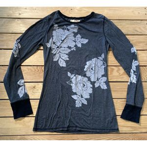 Free people long sleeve top L In a Floral Print